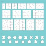 Vector parts of paper jigsaw puzzle set Stock Image
