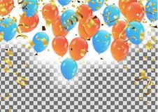 Vector party background with confetti and balloons. Eps. 10 Royalty Free Stock Images
