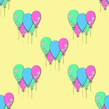 Vector party balloons pattern. vector illustration