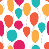 Vector party baloons pattern. Stock Photography