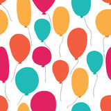 Vector party baloons pattern Royalty Free Stock Image