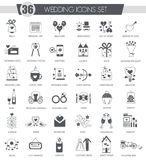 Vector Party black icon set. Dark grey classic icon design for web. Royalty Free Stock Images