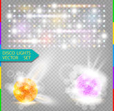 Vector party glow light effect element Royalty Free Stock Photos