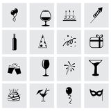 Vector party icon set Royalty Free Stock Photo