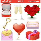 Vector Party Icons Set 5 Stock Photography