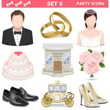 Vector Party Icons Set 6 Royalty Free Stock Image