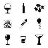 Vector party icons set Stock Image