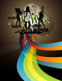 Vector party illustration Royalty Free Stock Image
