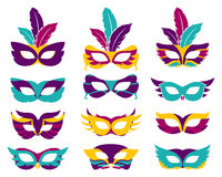 Vector party masks Stock Photos