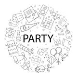 Vector Party pattern with word. Party background. Vector illustration Stock Photography