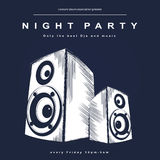 Vector party poster. Night club poster Stock Image