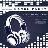 Vector party poster. Night club poster Royalty Free Stock Photos