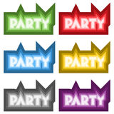 Vector party signs Royalty Free Stock Photography