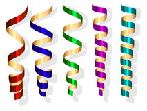 Vector party streamers Stock Photography