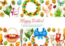 Vector paschal geeting card for Easter design Royalty Free Stock Photography