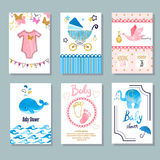 Vector pasgeboren viering en uitnodigingskaartenontwerp royalty-vrije illustratie