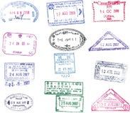 Vector paspoortzegel Stock Afbeeldingen