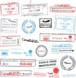 Vector paspoortzegels Stock Fotografie