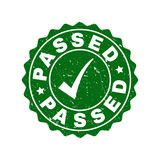 Passed Scratched Stamp with Tick vector illustration