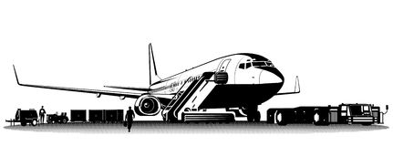 Vector passenger airliner Royalty Free Stock Images