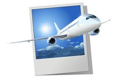Vector passenger DreamLiner vector illustration