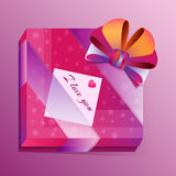 Vector passionate gift with greeting card Royalty Free Stock Photo