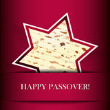 Passover card with matza Stock Photography
