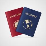 Vector passport set. Flat Design Stock Photo