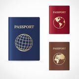 Vector passport set. Flat Design Royalty Free Stock Image