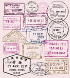 Vector passport stamps Royalty Free Stock Photography
