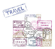 Vector passport stamps Stock Image