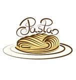 Vector Pasta Royalty Free Stock Photography
