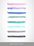 Vector pastel brush. Vector set colorful stroke. Vector pastel brush. Art template. Texture lines. Handmade design. Decorative stroke. Vector artistic brush Royalty Free Illustration