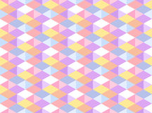 Vector Pastel Colored Geometric Seamless Pattern. Isometric Carnival Party Background. Kaleidoscope Faceted Texture Royalty Free Stock Images