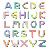 Vector pastel colorful type fonts Royalty Free Stock Photo