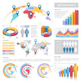 Vector Pastel Colors Infographics Set Royalty Free Stock Photography