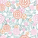 Vector pastel floral seamless pattern background royalty free illustration