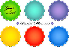 Vector pastel flower buttons Royalty Free Stock Images