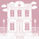 Vector Pastel house  Royalty Free Stock Photography