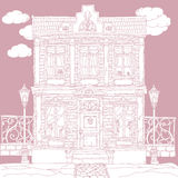 Vector Pastel house  Royalty Free Stock Image
