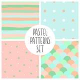 Vector pastel patterns set. Set of vector seamless pastel patterns Stock Photo