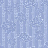 Vector Pastel Purple Blooming Branches Seamless Stock Photography