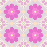 Vector Pastel seamless floral pattern. Seamless floral pattern of PURPLE colors Royalty Free Stock Photo