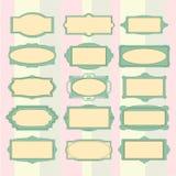 Vector in pastelkleurenkader dat wordt gekleurd Stock Foto