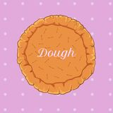 Vector pastry dough for pizza or pie Stock Photo