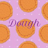 Vector pastry dough seamless pattern Royalty Free Stock Photos
