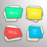 Vector patch banners Royalty Free Stock Photo