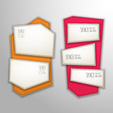 Vector patch banners Royalty Free Stock Photography