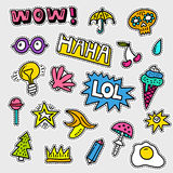Vector Patch Collection Royalty Free Stock Photography