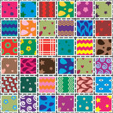 vector patchwork fabric Royalty Free Stock Images
